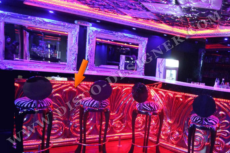 decor de bar fleur panneau ornemental en relief plat finition de miroir. Black Bedroom Furniture Sets. Home Design Ideas